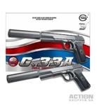Cтрайкбольный пистолет Galaxy G.33A ТТ, металлический, пружинный, с глушителем